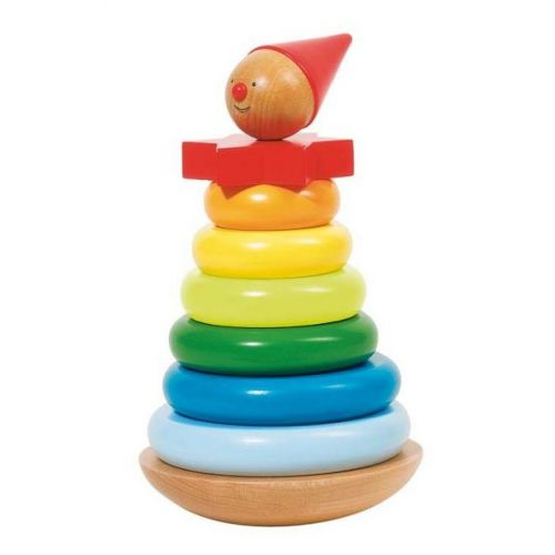 Goki Stabeltårn i træ - klovn