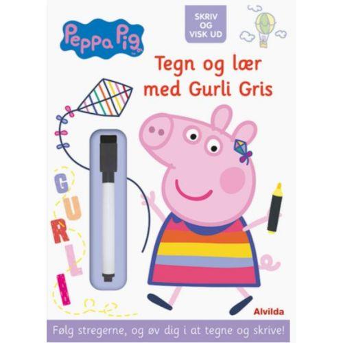Peppa Pig - Gurli Gris - Skriv og visk ud - Tegn og lær med Gurli Gris