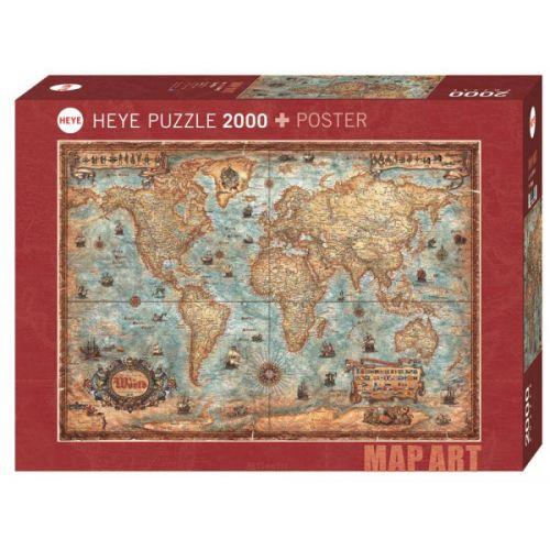Heye Puslespil - The World - m. 2000 brikker