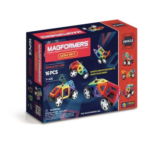 Magformers Wow sæt, 16 dele til bil konstruktion