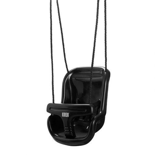 Krea Swing - Baby gynge i sort med høj ryg