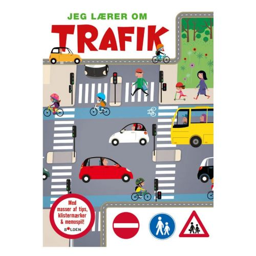 Jeg lærer om Trafik m. tips, klistermærker og Memospil