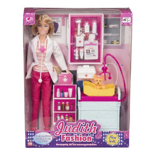 Judith Fashion dukke - Dyrlæge Sæt