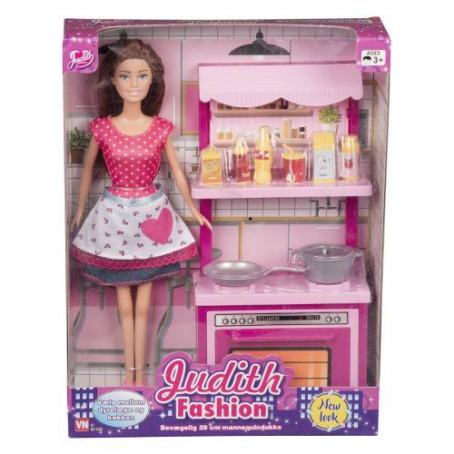 Judith Fashion dukke - Kokke sæt
