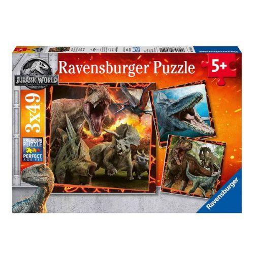 Juras World - puslespil 3 x 49 brikker - Ravensburger
