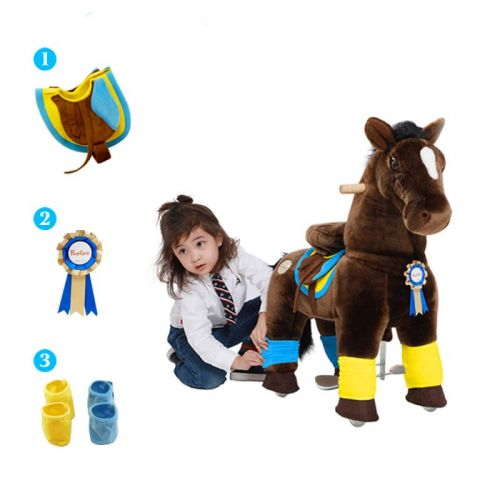 PonyCycle Small Mekanisk Pony Chokolade Brun - Premium K-serie
