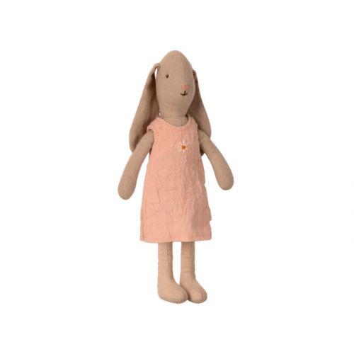 Kanin størrelse 1 - Kjole 22 cm - Rosa