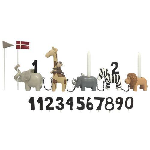 Kids By Friis Fødselsdagstog Safaridyr m. 11 tal