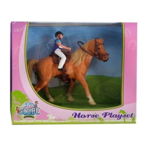 Kids Globe Rytter og Brun Hest (1:24)