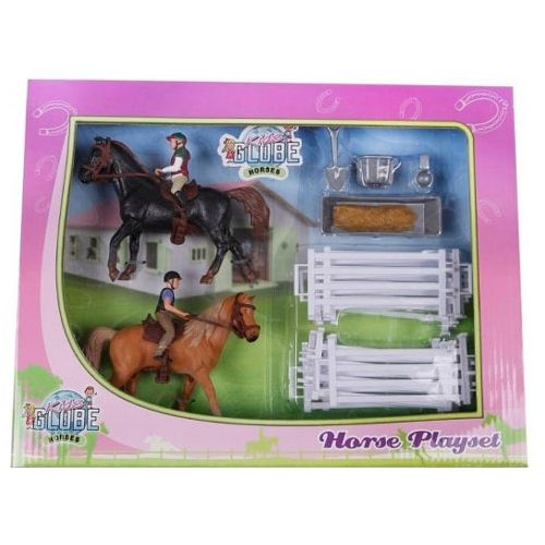 Kids Globe Sæt med 2 Heste og 2 Ryttere (1:24)