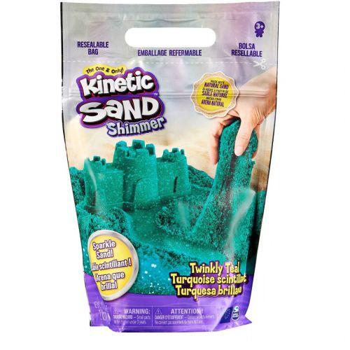 Kinetic Sand Glitter Sand Pose - Turkis
