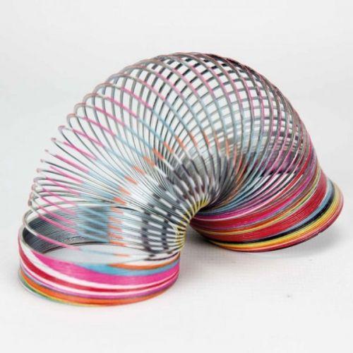 Slinky Gående fjeder Ø 6 cm - metal - ass. farver