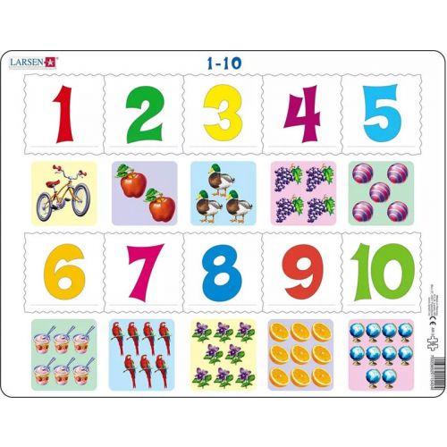 Larsen puslespil - Lær Tallene 1-10 med billeder