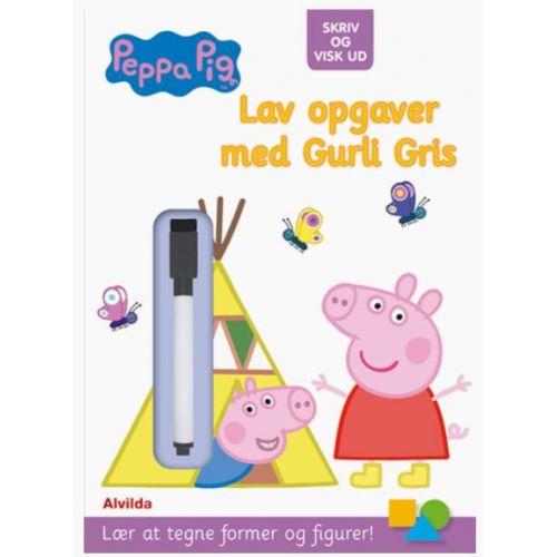 Peppa Pig - Gurli Gris - Skriv og visk ud - Lav opgaver med Gurli Gris