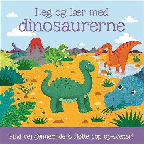 Leg og lær med dinosaurerne - med 8 pop op-scener