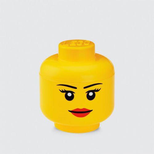 LEGO Opbevaringsboks - Small Hoved - Pige