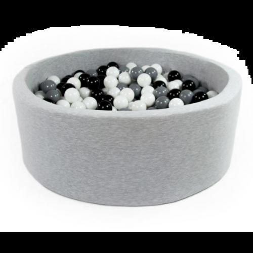 Meow Boldbassin med 200 bolde 90 x 30 - Lys grå