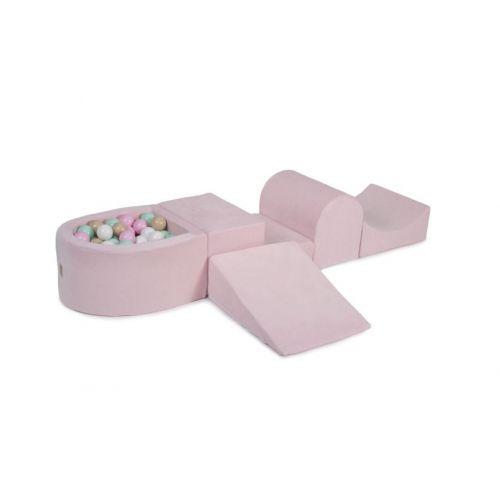 Meow Skum legesæt med boldbassin og 100 bolde - Pink