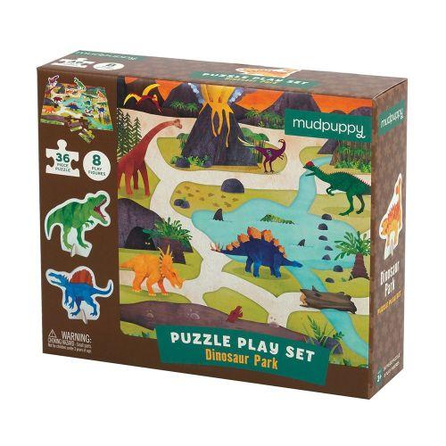 Mudpuppy Puslespil 36 brk - Dinosaur park legesæt