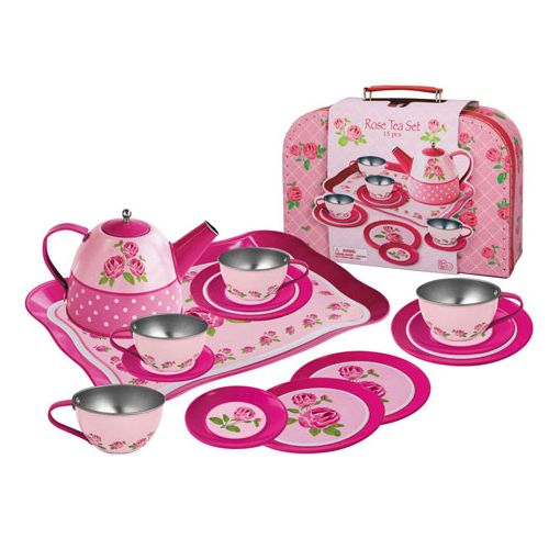 Magni Tesæt Pink Rose - 15 dele og kuffert