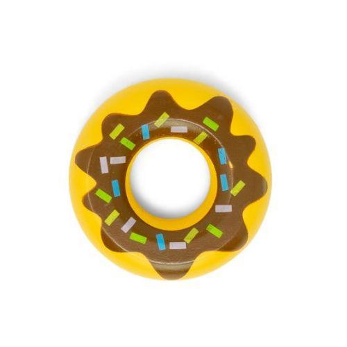 Mamamemo Donut m. Brun Glasur - legemad i FSC træ