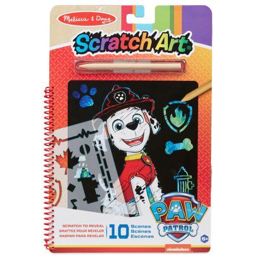 Melissa & Doug Paw Patrol - Scratch Art Pad - Marshall