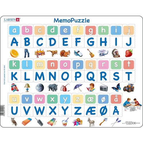 Lær Alfabetet - Memo Puslespil - Larsen