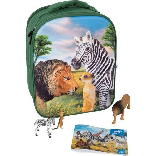 Animal Planet 3D Rygsæk m. dyr - Savannen