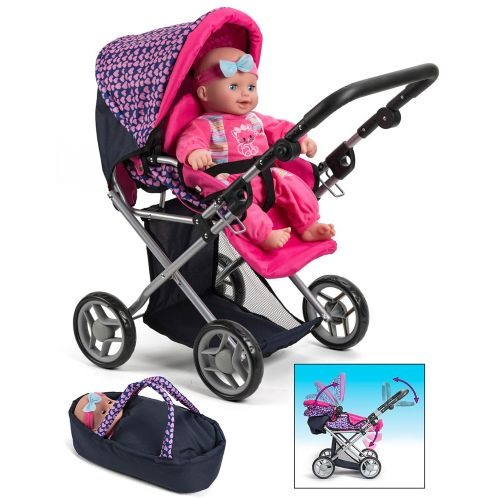 My Baby 3-i-1 Dukkevogn, klapvogn og lift