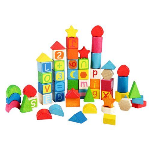 New Classic Toys Klodser til læring, 56 stk