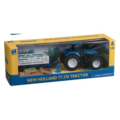 New Holland T7.270 Traktor sæt m. vogn og mand