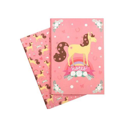 A Little Lovely Company - A5 Notesbog Hest - 2 stk