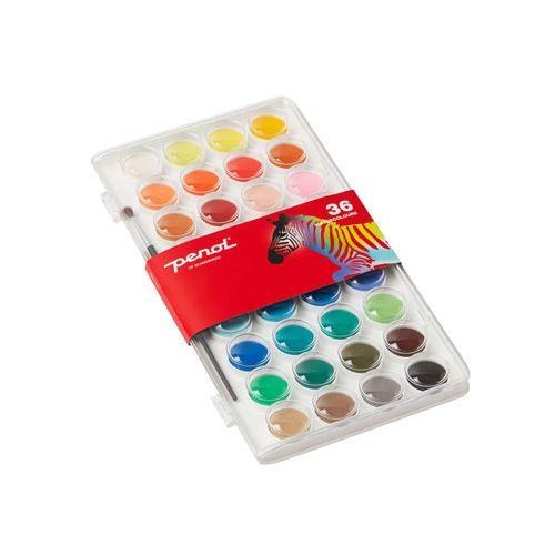 Penol Farvelade med 36 farver og pencel