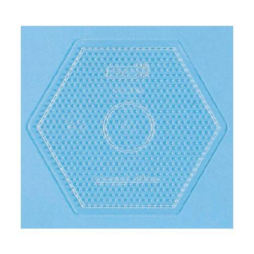 Hama Perleplade Midi - stor sekskant transparent