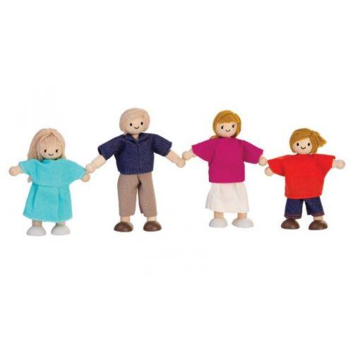 Plantoys Dukkefamilie med mor, far og 2 børn