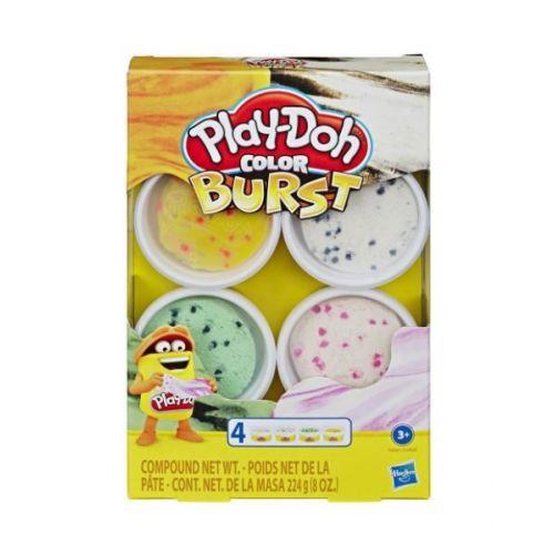 Play-Doh Color Burst 4 stk. - Pakke 2
