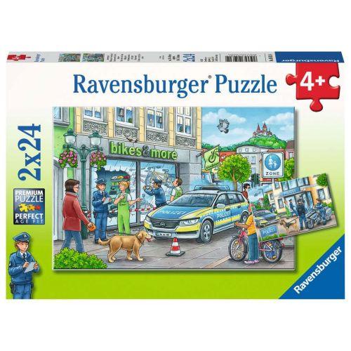 Politi på arbejde - puslespil 3 x 49 brikker - Ravensburger