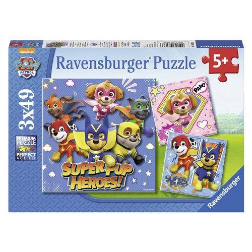 Paw Patrol Puslespil 3 x 49 brikker - Ravensburger
