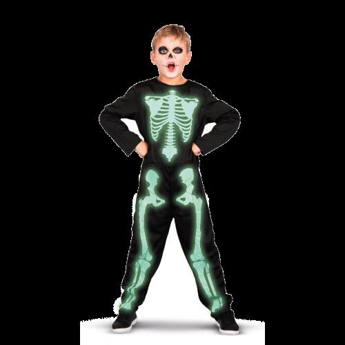 Rio Selvlysende Skelet 140 cm - Udklædning