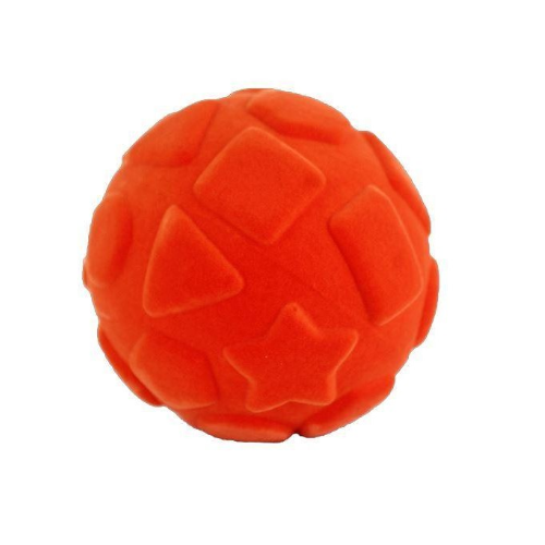 Rubbabu Bold Stor - Shapes Ball - Orange ø10