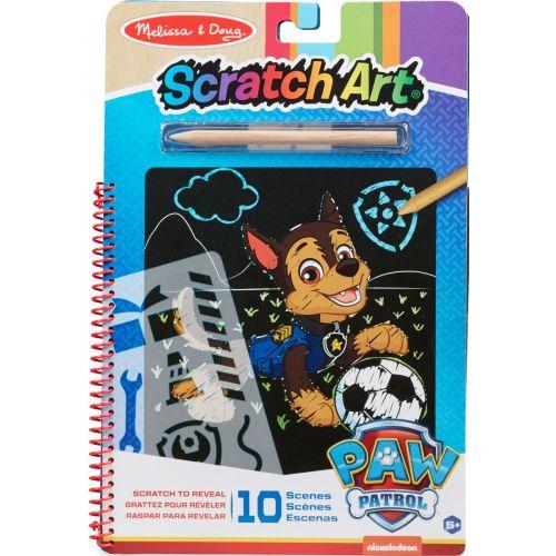 Melissa & Doug Paw Patrol - Scratch Art Pad - Chase