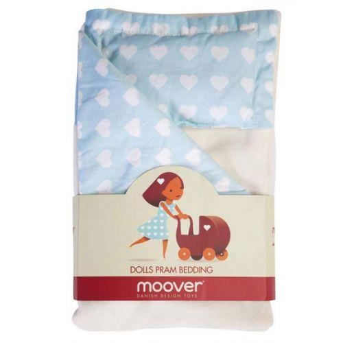 Sengetøj til Moover dukkevogn - Blå