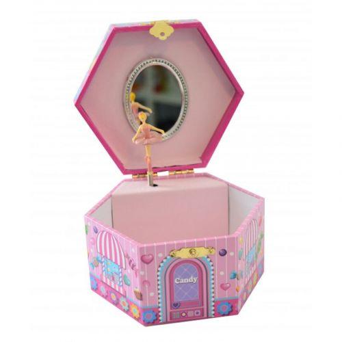 Smykkeskrin Candy Shop - sekskantet m. musik