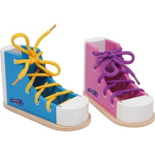 Lær at binde snørebånd, sko - lyserød
