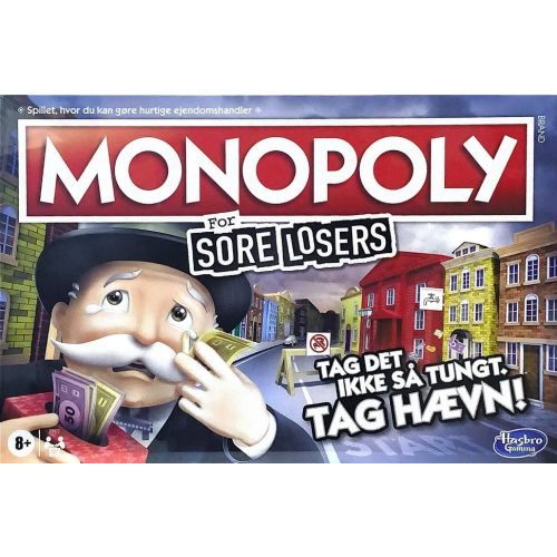 Monopoly Sore Losers Edition DK - Hasbro Spil