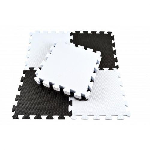 Magni Skumgulv i sort og hvid - m. 10 felter