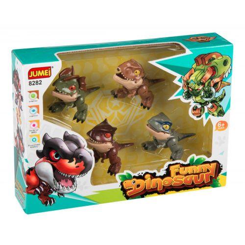 SpeedCar Baby Dinosaur robotter - sæt m. 4