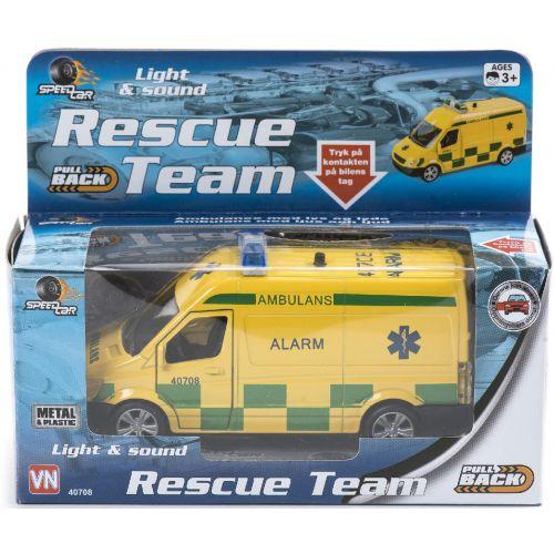 SpeedCar Dansk Ambulance m. lys og lyd