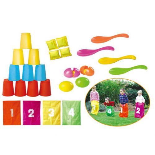 SS Party Game Set - æggeløb, sækkeløb og dåsekast