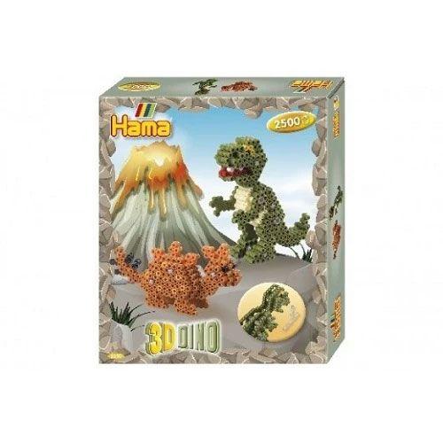 Hama midi Perler - 3D Dinosaurus Sæt